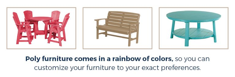 Poly Furniture - Rainbow of Colors