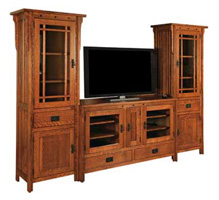 Mission Style Flat Wall TV Stands