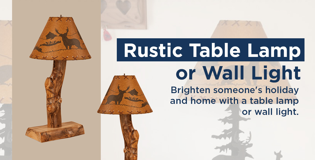 Rustic Table Lamp or Wall Light