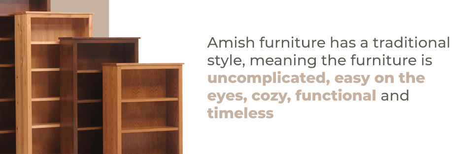 Traditional style Amish Bookcases